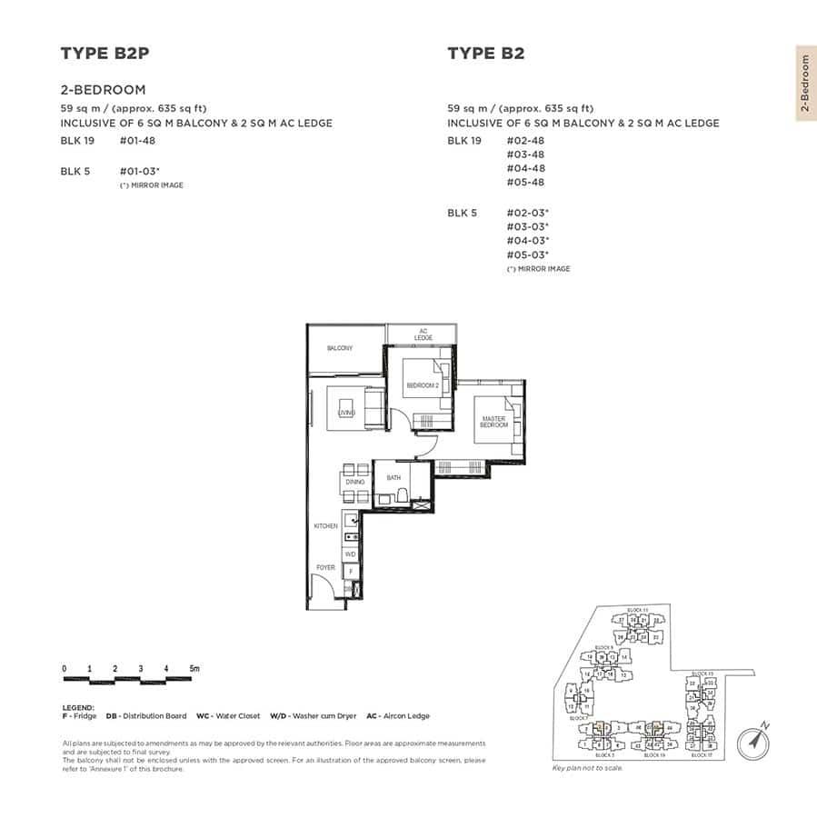 The-Gazania-Condo-Floor-Plan-2-Bedroom-B2-B2P