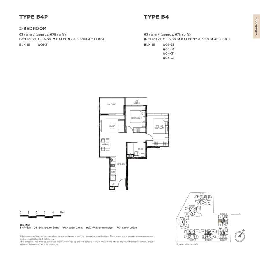 The-Gazania-Condo-Floor-Plan-2-Bedroom-B4-B4P