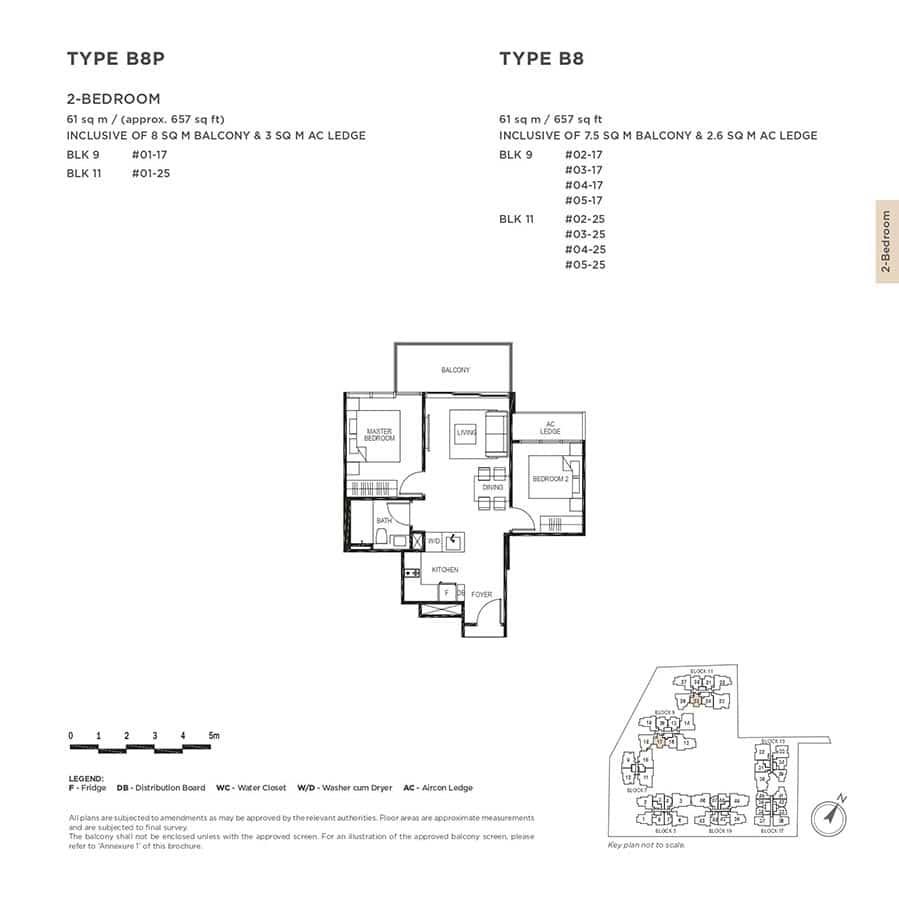 The-Gazania-Condo-Floor-Plan-2-Bedroom-B8-B8P