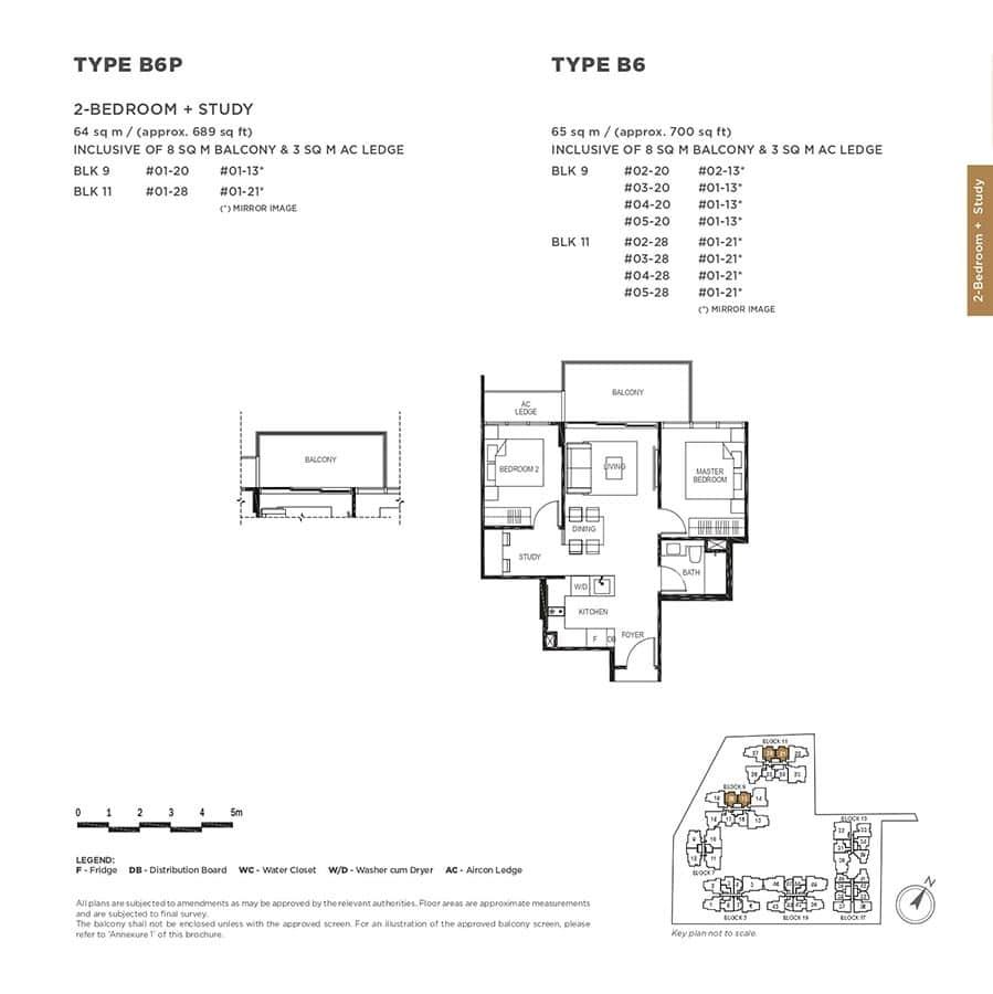 The-Gazania-Condo-Floor-Plan-2-Bedroom-Study-B6-B6P