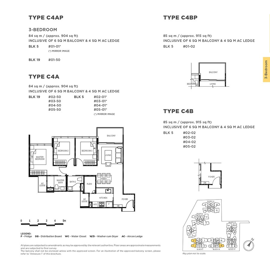 The-Gazania-Condo-Floor-Plan-3-Bedroom-C4A-C4AP-C4B-C4BP