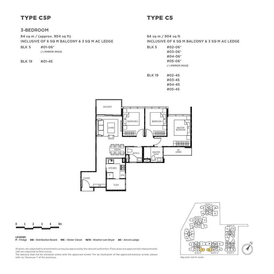 The-Gazania-Condo-Floor-Plan-3-Bedroom-C5-C5P