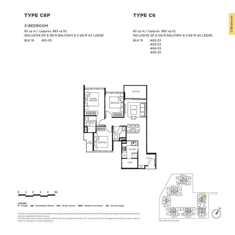 The-Gazania-Condo-Floor-Plan-3-Bedroom-C6-C6P