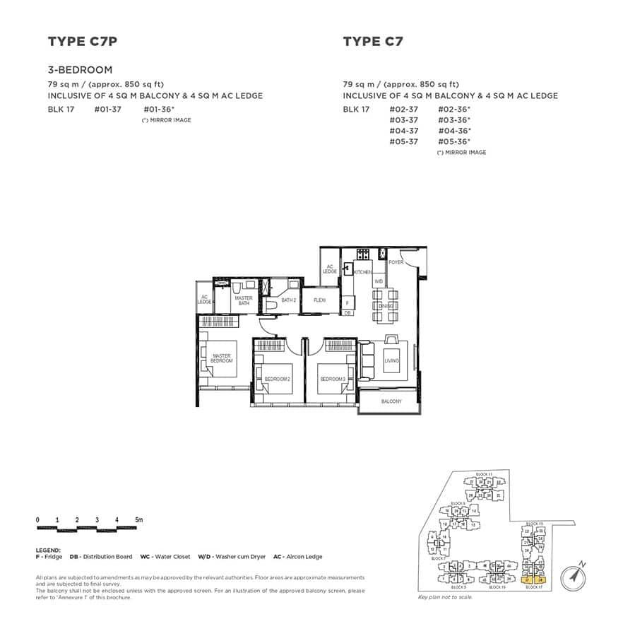The-Gazania-Condo-Floor-Plan-3-Bedroom-C7-C7P