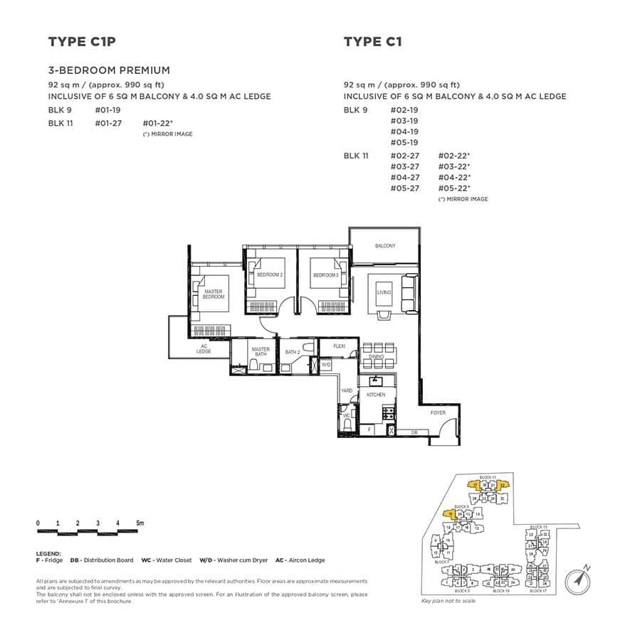 The-Gazania-Condo-Floor-Plan-3-Bedroom-Premium-C1-C1P