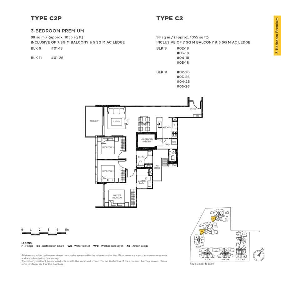The-Gazania-Condo-Floor-Plan-3-Bedroom-Premium-C2-C2P
