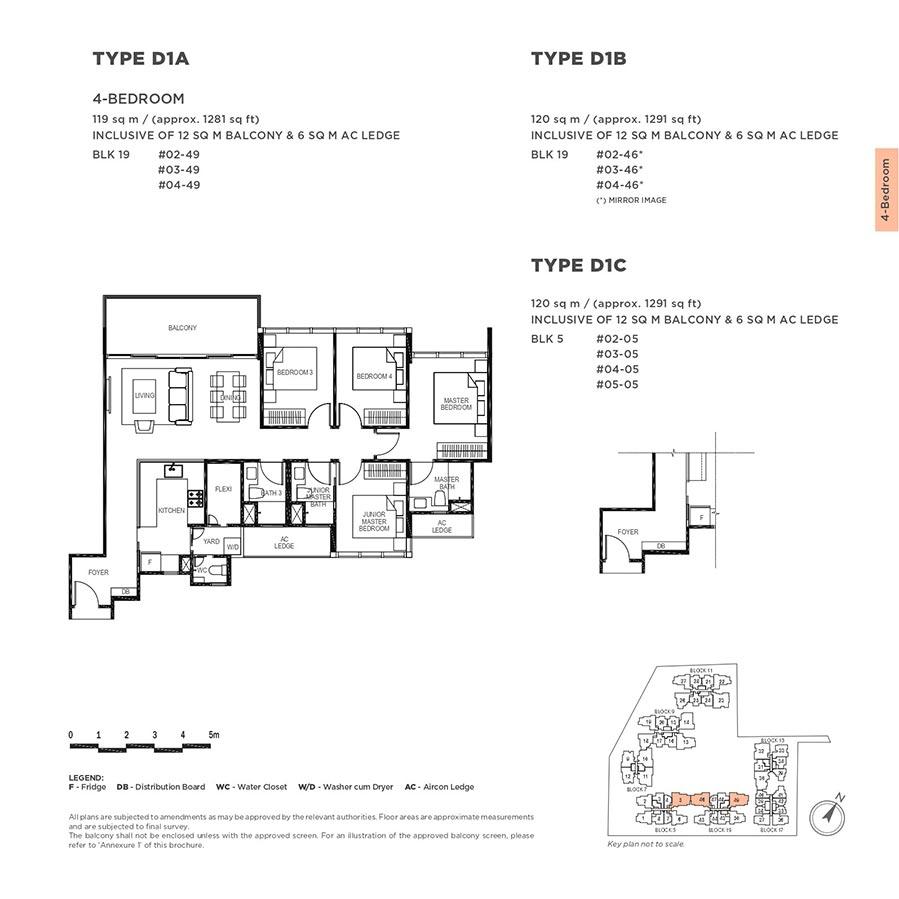 The-Gazania-Condo-Floor-Plan-4-Bedroom-D1A-D1B-D1C