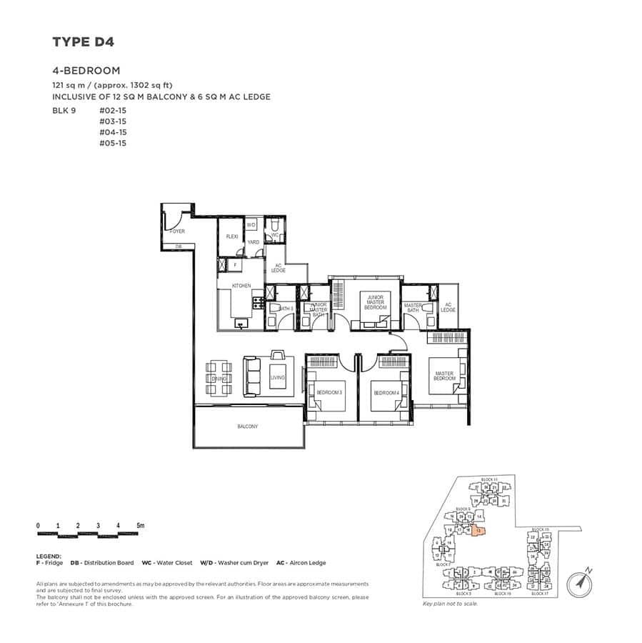 The-Gazania-Condo-Floor-Plan-4-Bedroom-D4