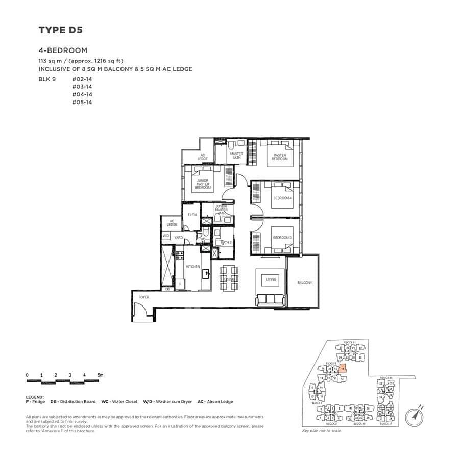 The-Gazania-Condo-Floor-Plan-4-Bedroom-D5