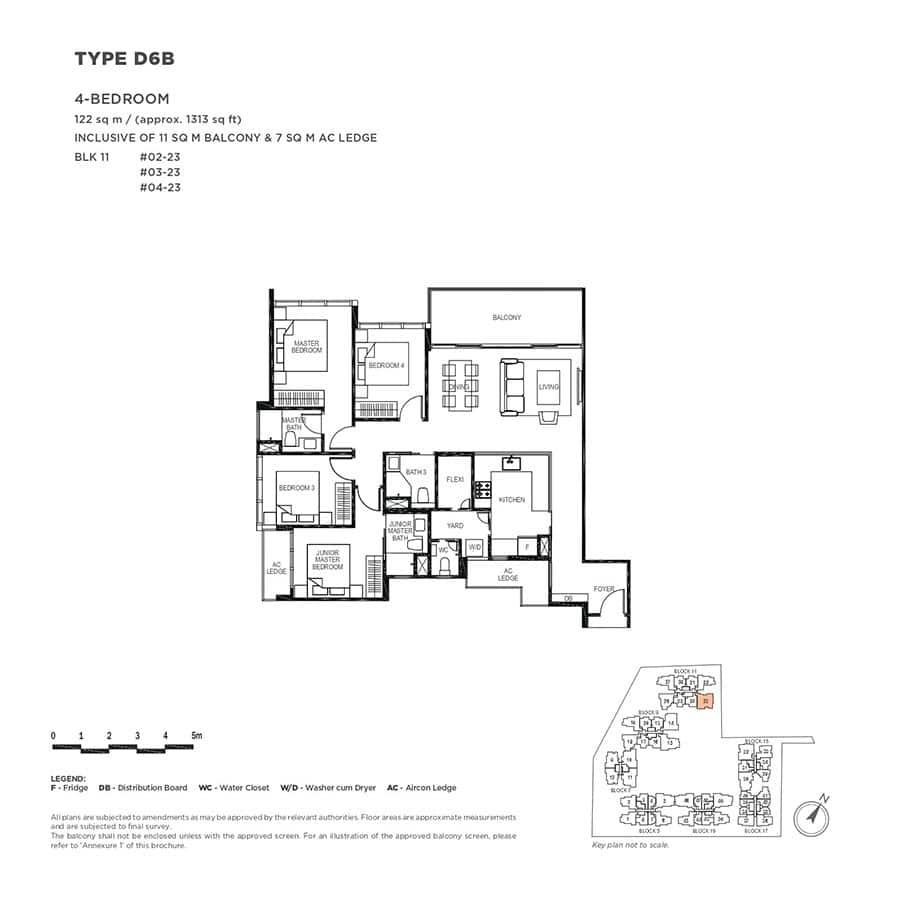 The-Gazania-Condo-Floor-Plan-4-Bedroom-D6B