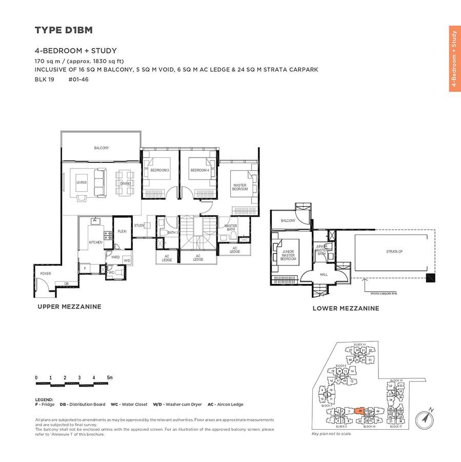 The-Gazania-Condo-Floor-Plan-4-Bedroom-Study-D1BM