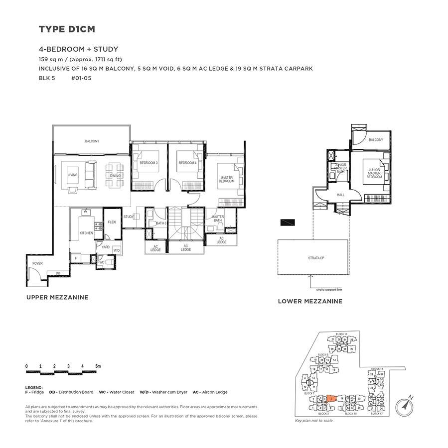 The-Gazania-Condo-Floor-Plan-4-Bedroom-Study-D1CM