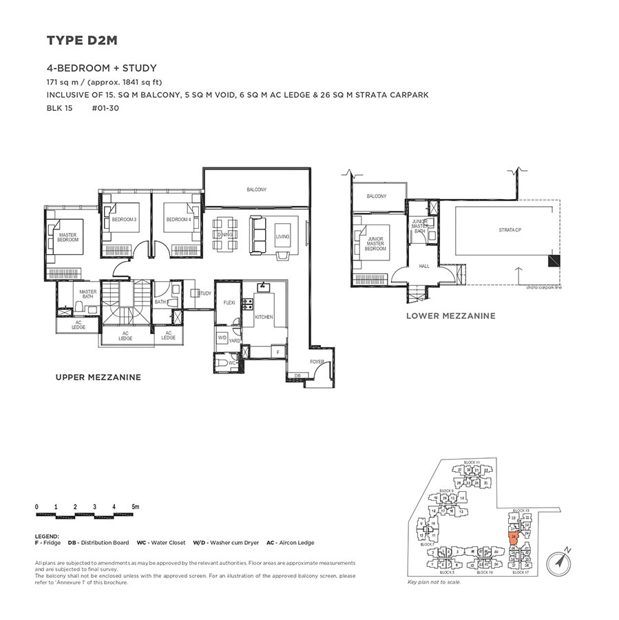 The-Gazania-Condo-Floor-Plan-4-Bedroom-Study-D2M