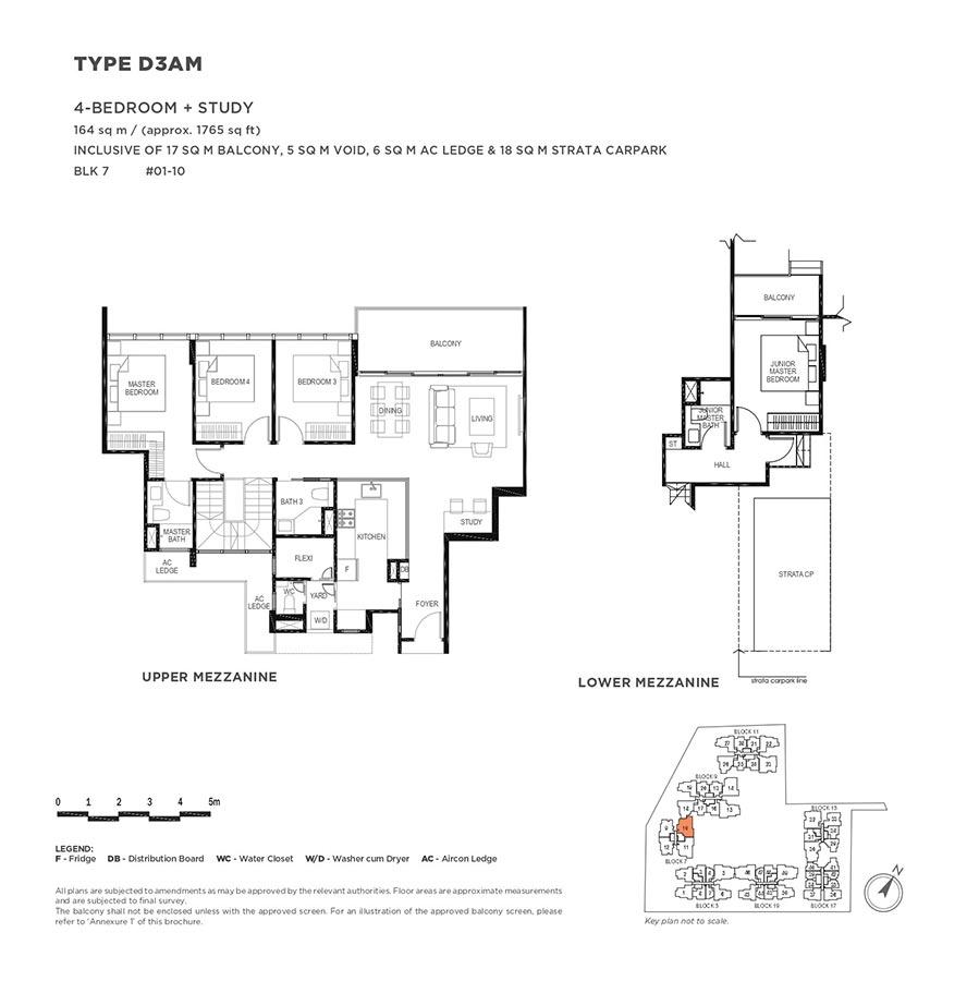 The-Gazania-Condo-Floor-Plan-4-Bedroom-Study-D3AM