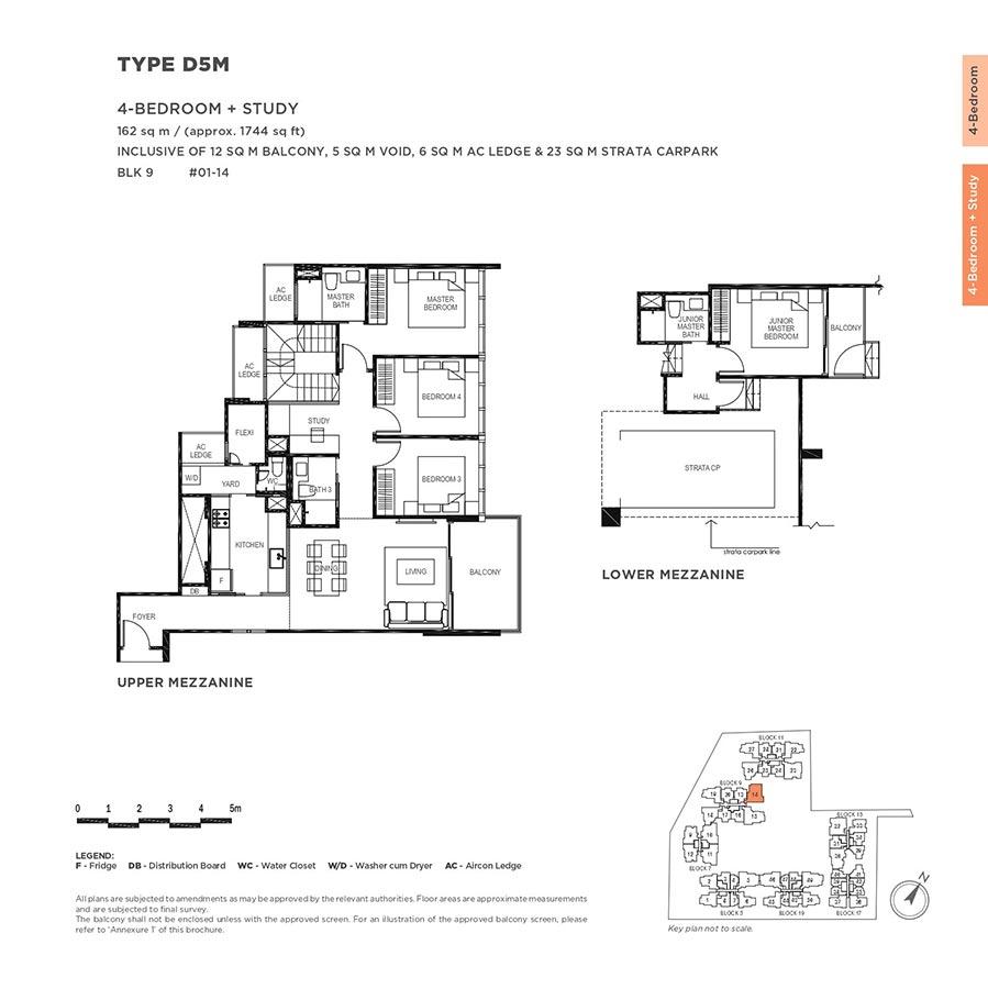 The-Gazania-Condo-Floor-Plan-4-Bedroom-Study-D5M