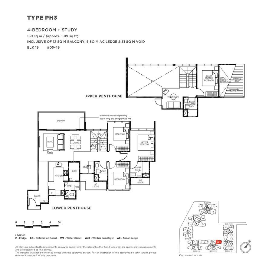 The-Gazania-Condo-Floor-Plan-Penthouse-4-Bedroom-Study-PH3