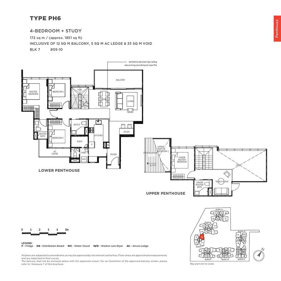 The-Gazania-Condo-Floor-Plan-Penthouse-4-Bedroom-Study-PH6