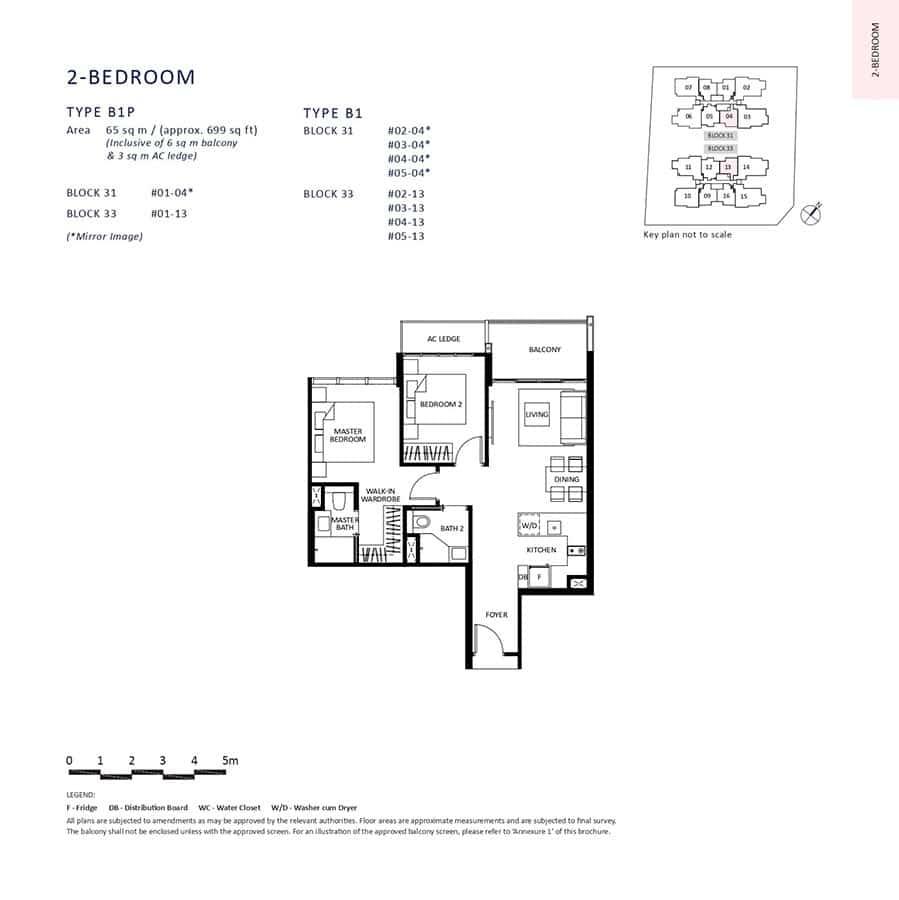 The-Lilium-Condo-Floor-Plan-2-Bedroom-B1-B1P