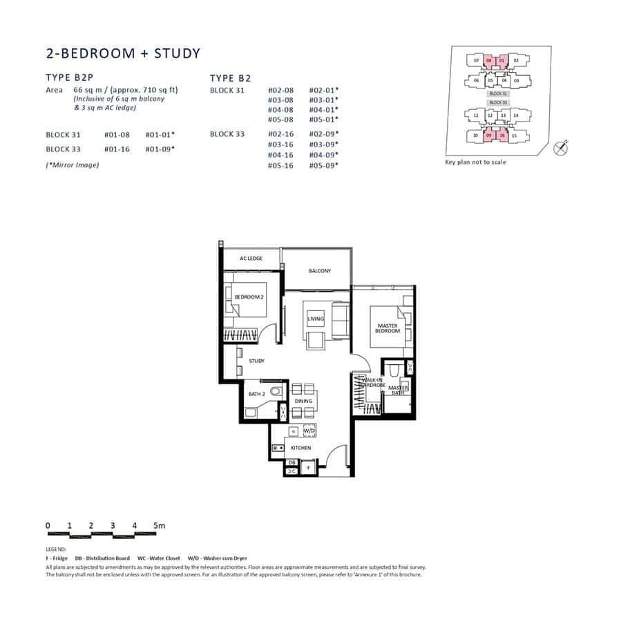 The-Lilium-Condo-Floor-Plan-2-Bedroom-Study-B2-B2P
