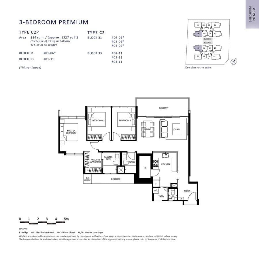The-Lilium-Condo-Floor-Plan-3-Bedroom-Premium-C2-C2P