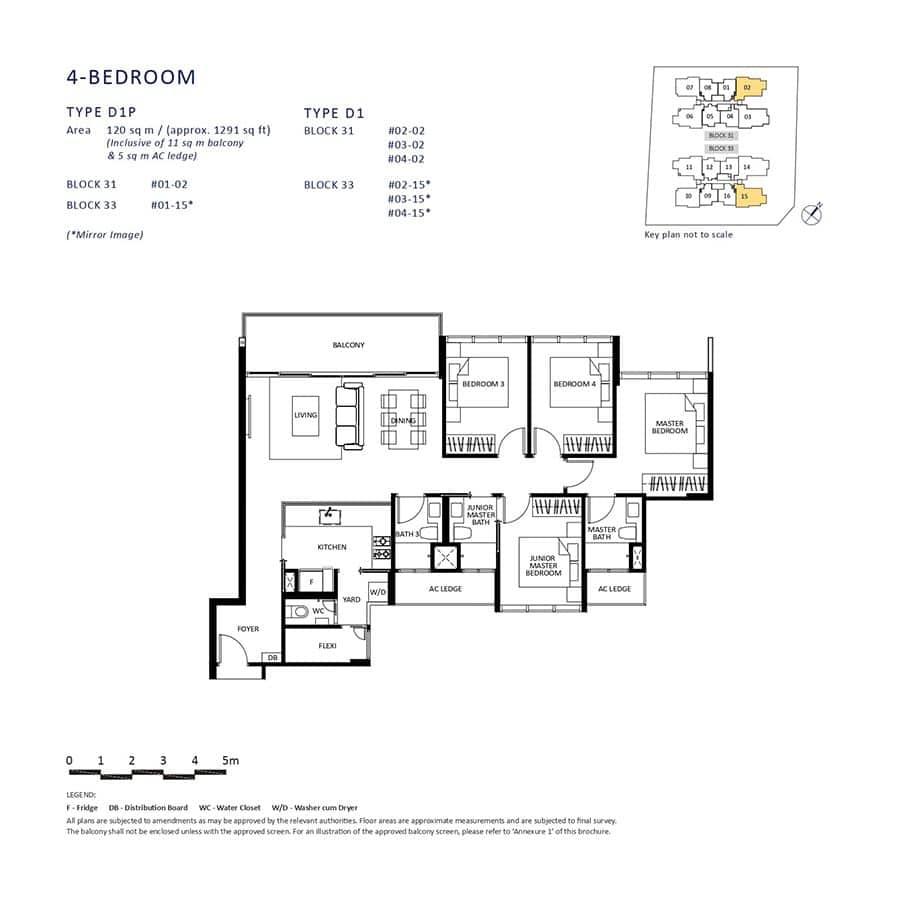 The-Lilium-Condo-Floor-Plan-4-Bedroom-D1-D1P