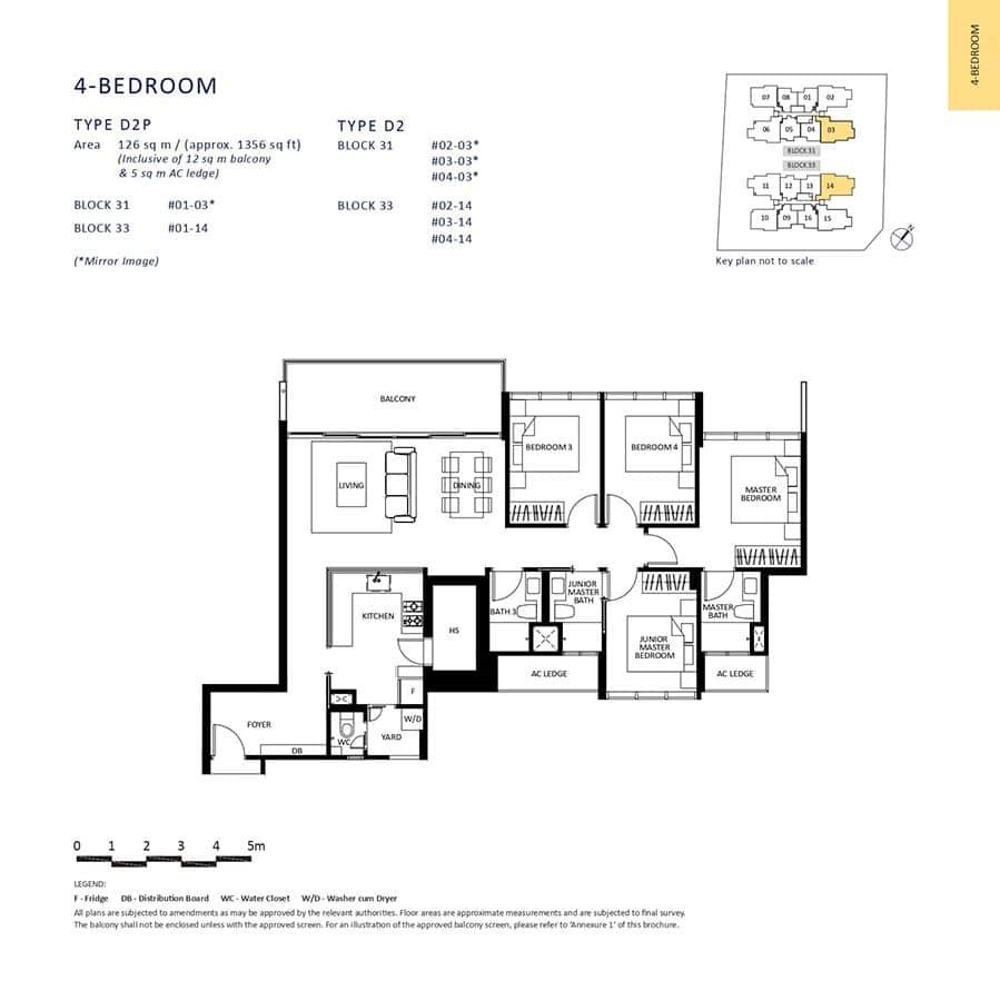 The-Lilium-Condo-Floor-Plan-4-Bedroom-D2-D2P