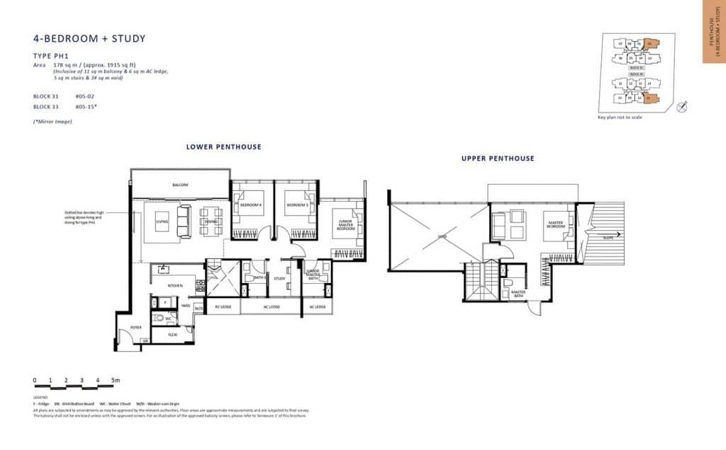 The-Lilium-Condo-Floor-Plan-Penthouse-4-Bedroom-Study-PH1