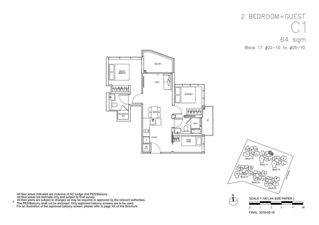 View-at-Kismis-Condo-Floor-Plan-2-Bedroom-Guest-C1