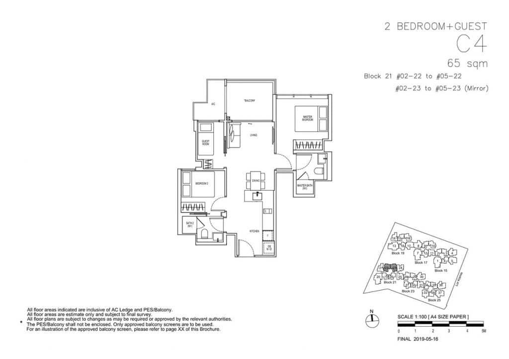 View-at-Kismis-Condo-Floor-Plan-2-Bedroom-Guest-C4