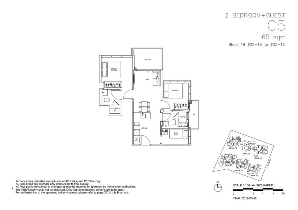 View-at-Kismis-Condo-Floor-Plan-2-Bedroom-Guest-C5