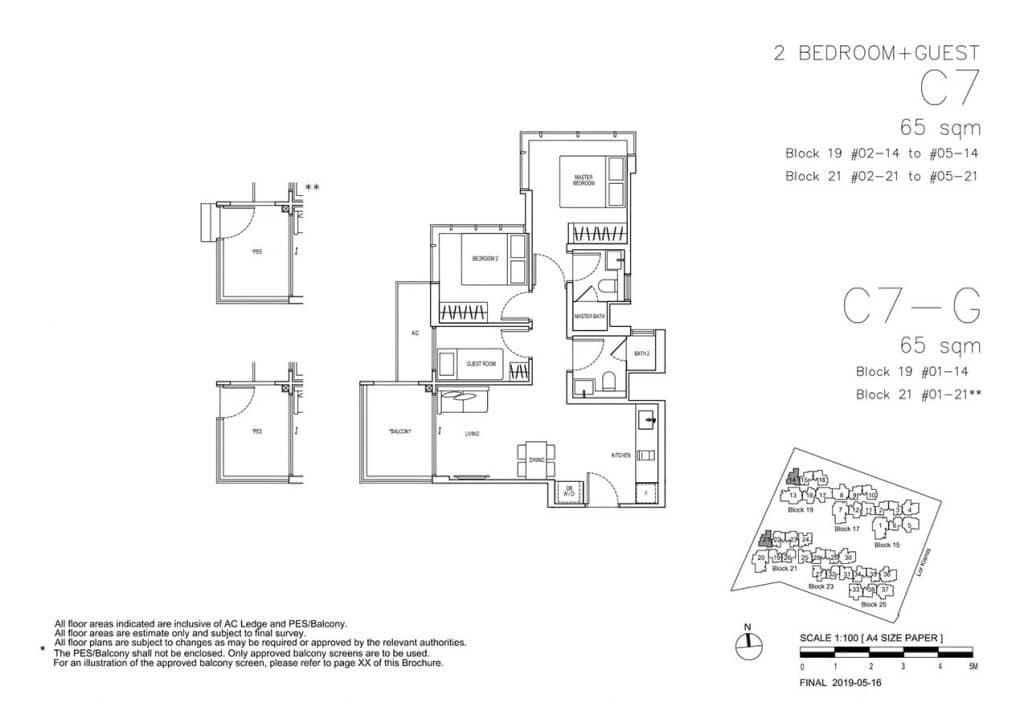 View-at-Kismis-Condo-Floor-Plan-2-Bedroom-Guest-C7-C7G