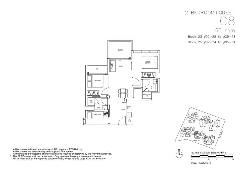 View-at-Kismis-Condo-Floor-Plan-2-Bedroom-Guest-C8