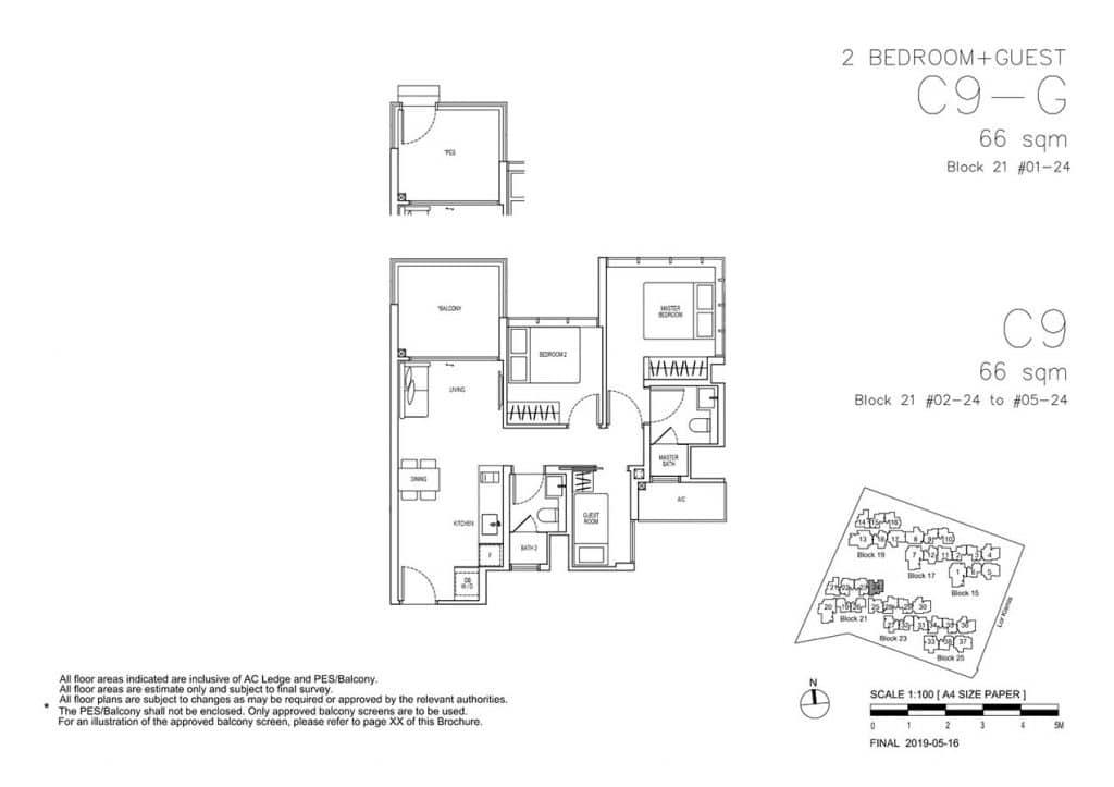 View-at-Kismis-Condo-Floor-Plan-2-Bedroom-Guest-C9-C9G