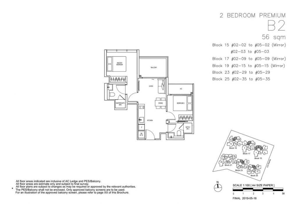 View-at-Kismis-Condo-Floor-Plan-2-Bedroom-Premium-B2