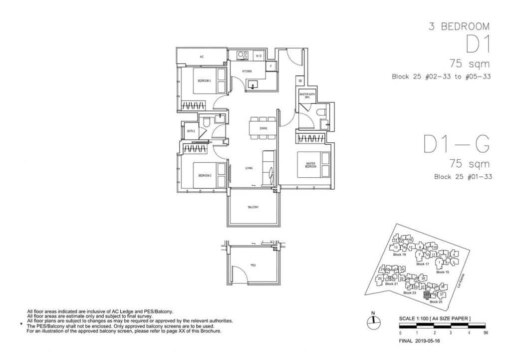 View-at-Kismis-Condo-Floor-Plan-3-Bedroom-D1-D1G