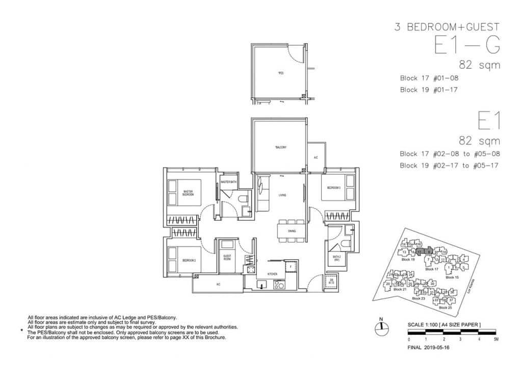 View-at-Kismis-Condo-Floor-Plan-3-Bedroom-Guest-E1-E1G
