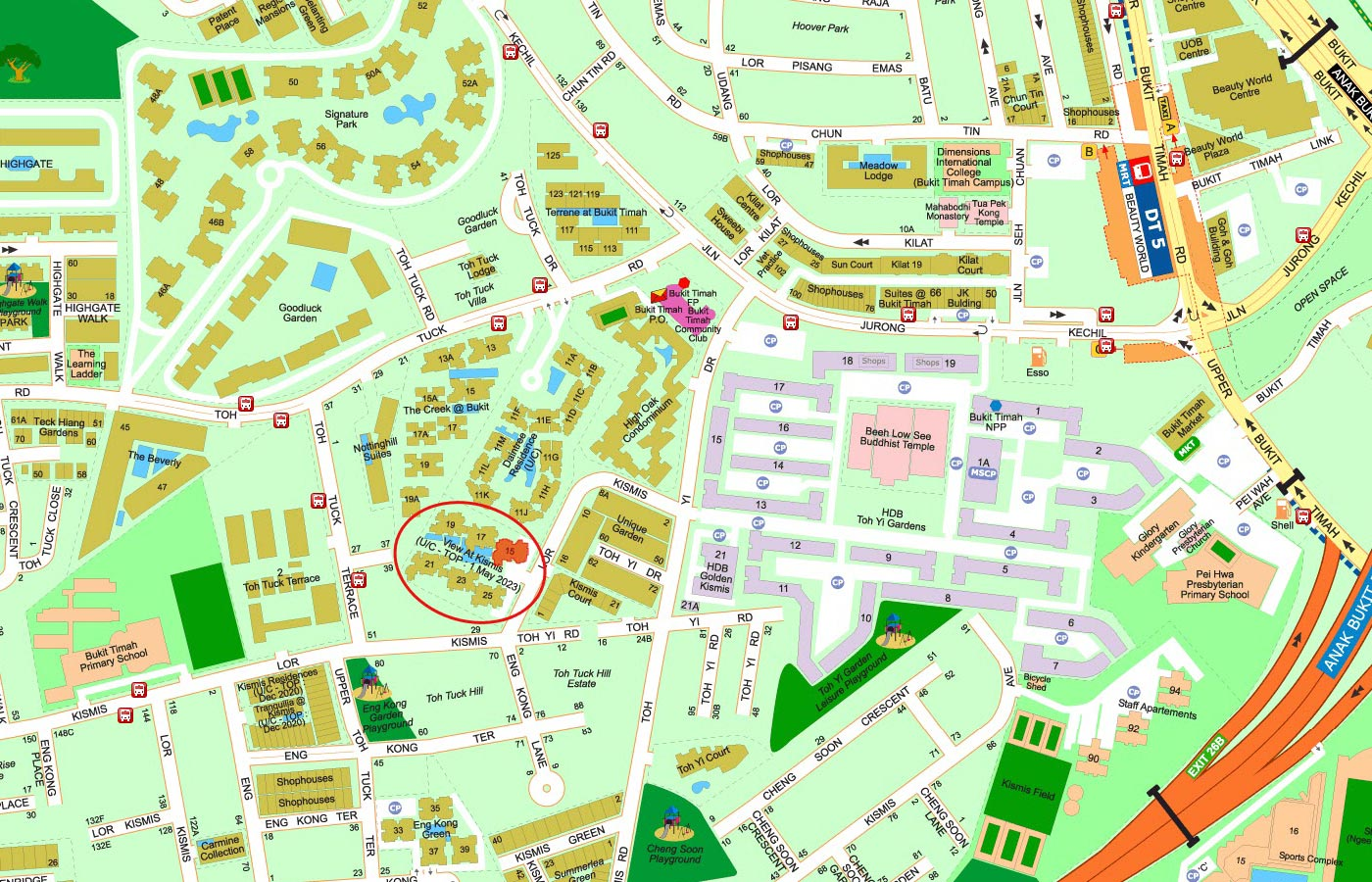 View-at-Kismis-Condo-Street-Directory-Map