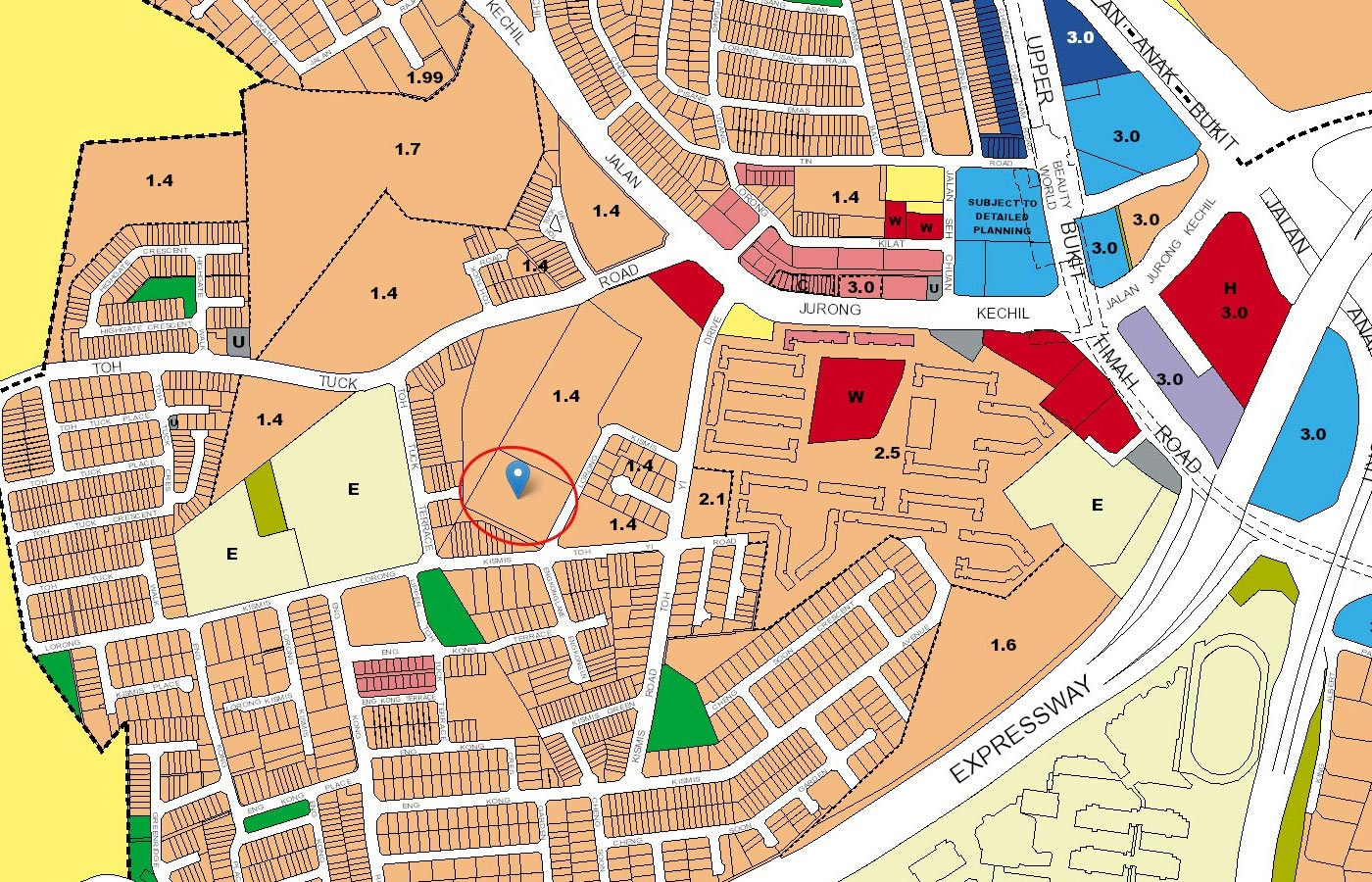View-at-Kismis-Condo-URA-Master-Plan-Map