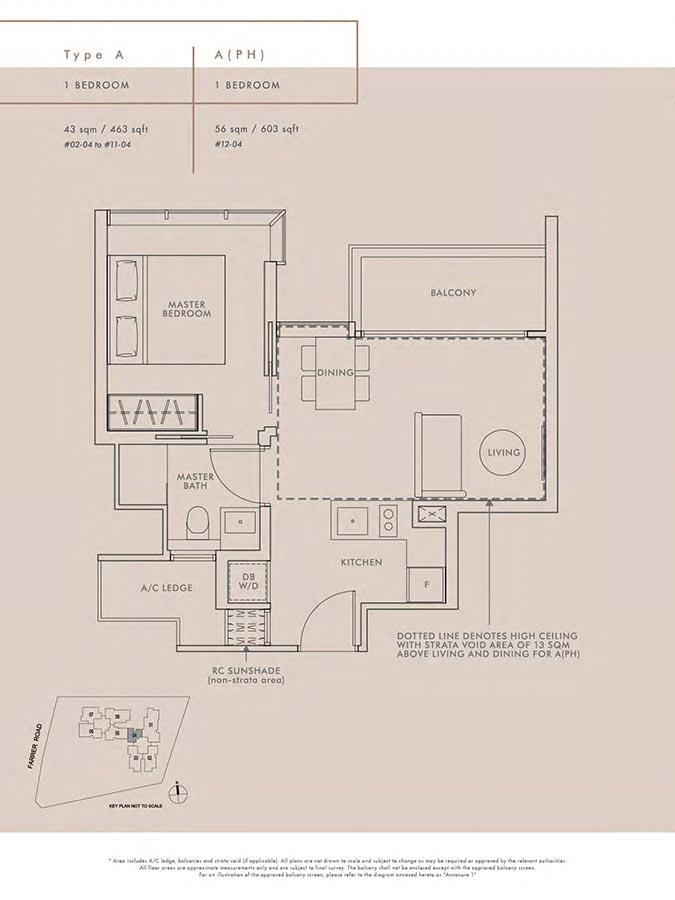 Wilshire-Residences-Condo-Floor-Plan-1-Bedroom-A-APH