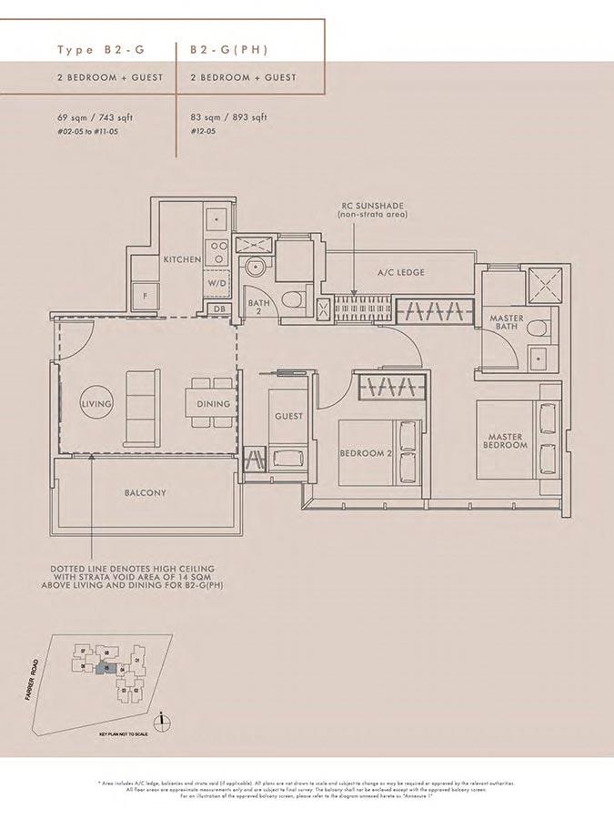 Wilshire-Residences-Condo-Floor-Plan-2-Bedroom-Guest-B2G-B2GPH