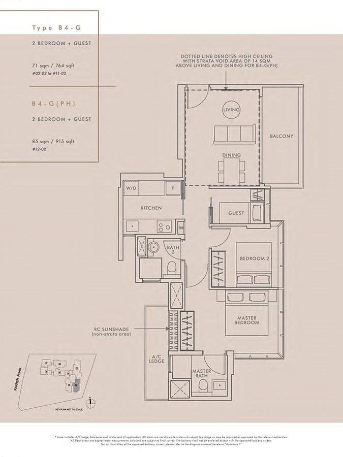 Wilshire-Residences-Condo-Floor-Plan-2-Bedroom-Guest-B4G-B4GPH