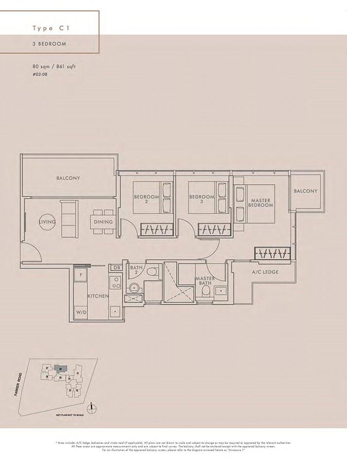 Wilshire-Residences-Condo-Floor-Plan-3-Bedroom-C1