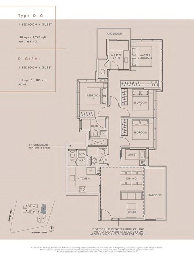 Wilshire-Residences-Condo-Floor-Plan-4-Bedroom-Guest-DG-DGPH