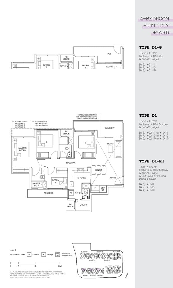 Parc Canberra Executive Condo Floor Plan 4 Bedroom Utility Yard D1