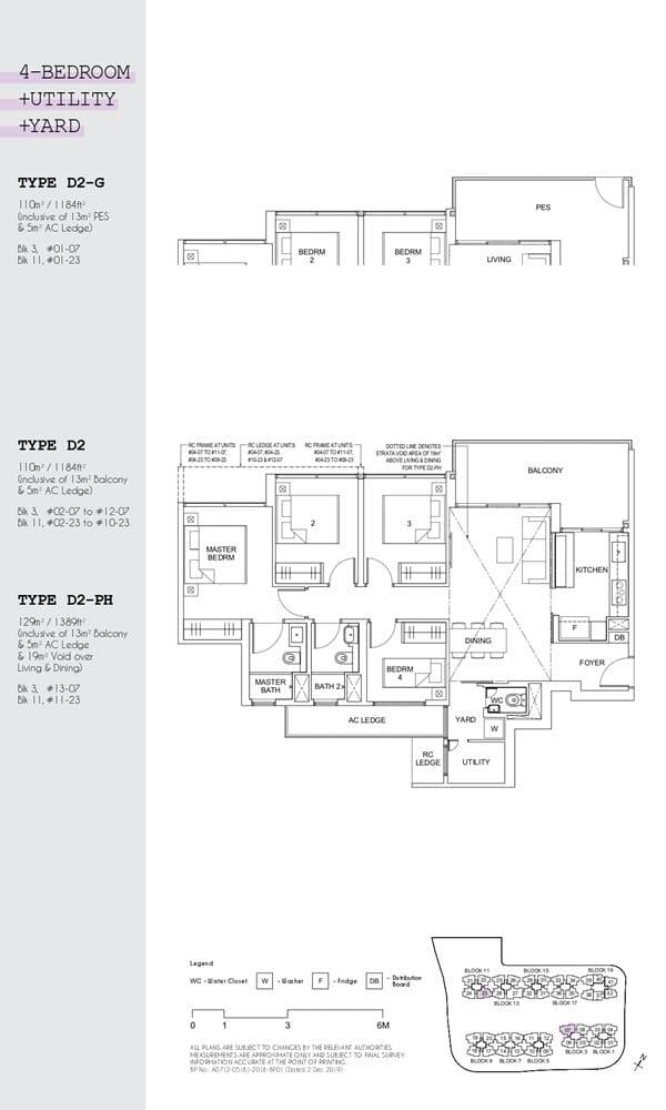 Parc Canberra Executive Condo Floor Plan 4 Bedroom Utility Yard D2