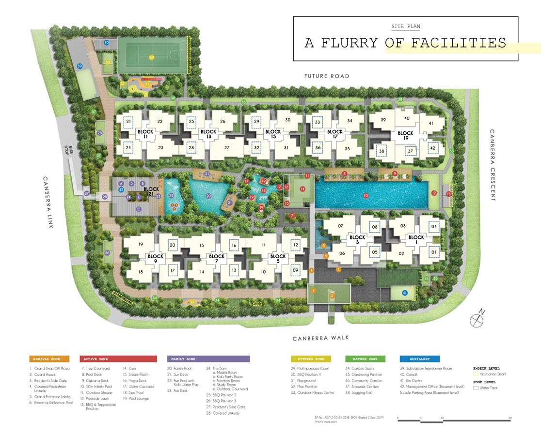 Parc Canberra Executive Condo Site Plan