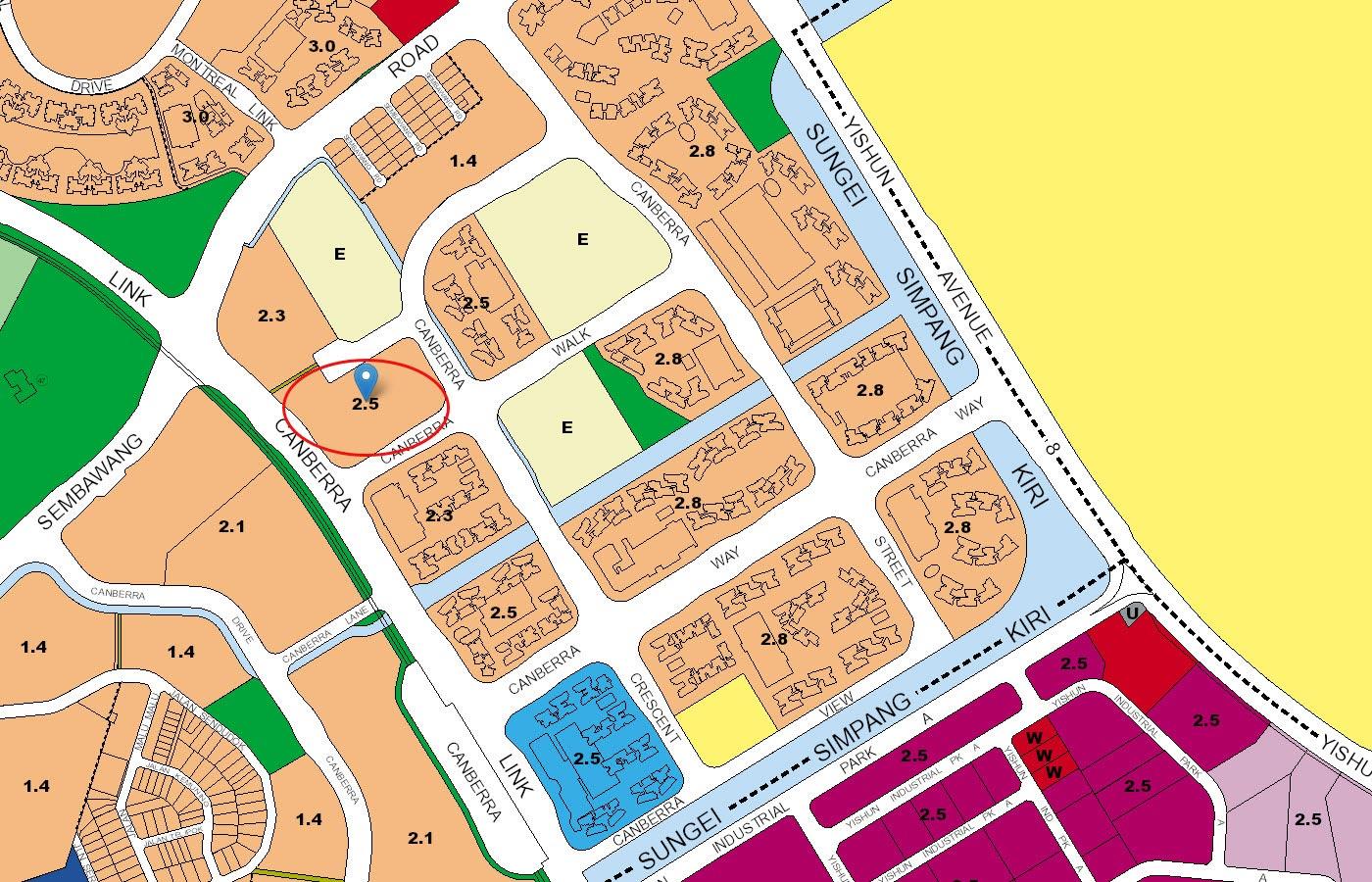 Parc-Canberra-Executive-Condo-URA-Master-Plan-Map