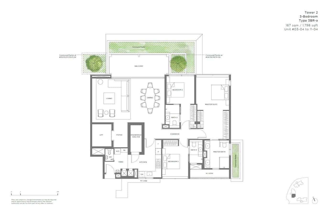 15 Holland Hill - Floor Plan - 3 Bedroom 3BR-a