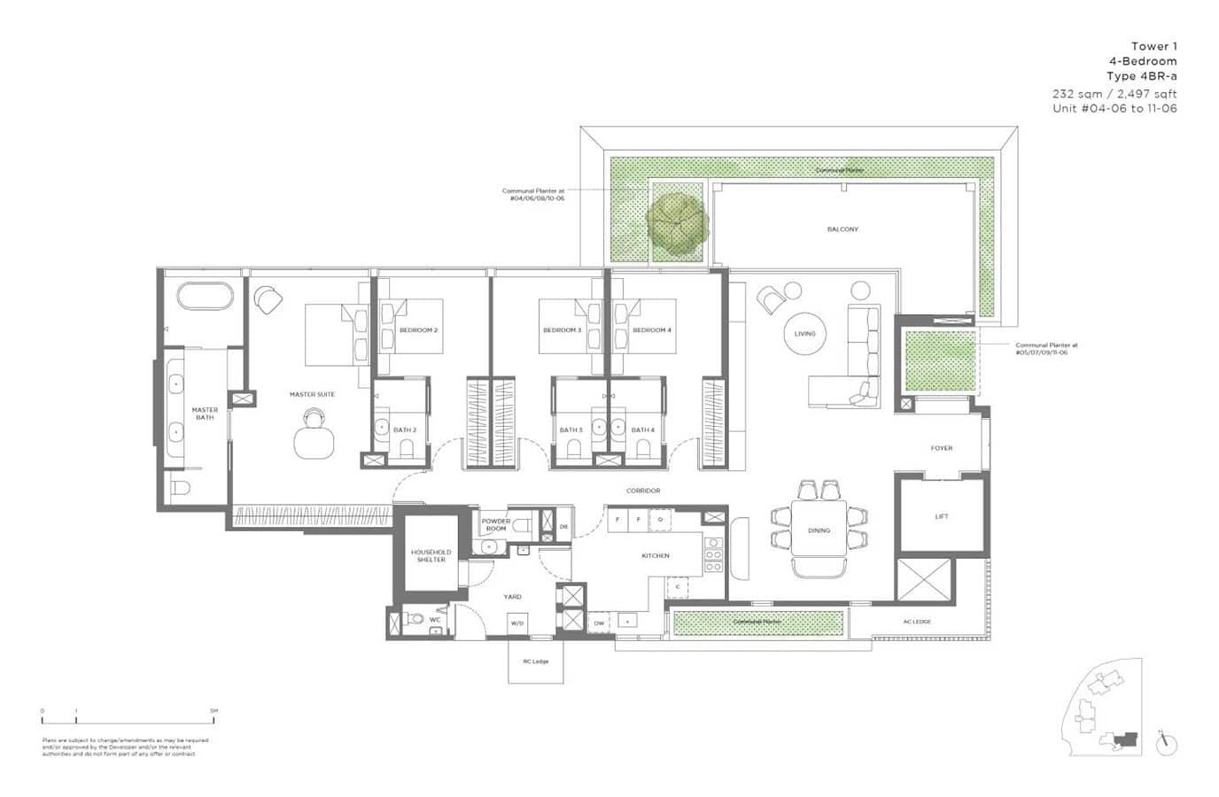 15 Holland Hill - Floor Plan - 4 Bedroom 4BR-a
