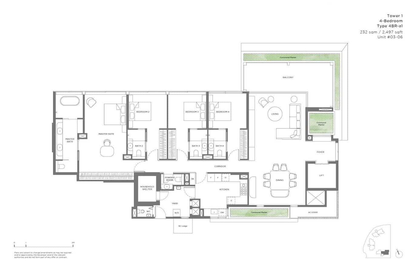15 Holland Hill - Floor Plan - 4 Bedroom 4BR-a1